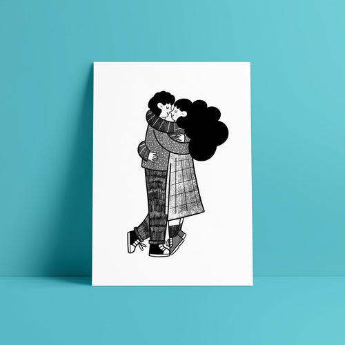 Lovers Risograph Print