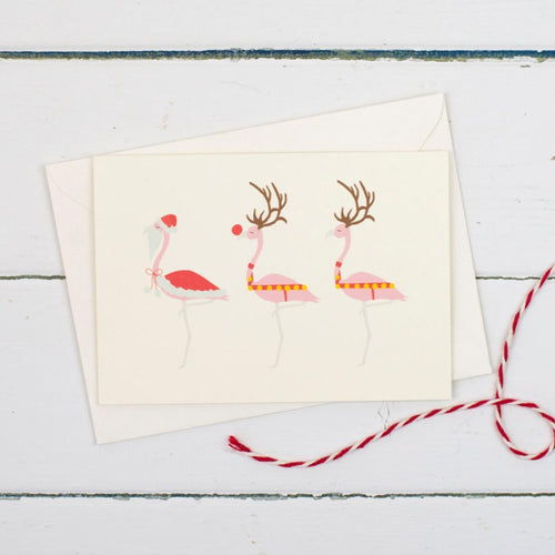 Christmas flamingos Christmas Card