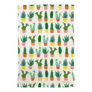 Succulents Tea Towel