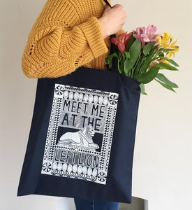Nottingham Left Lion Tote Bag