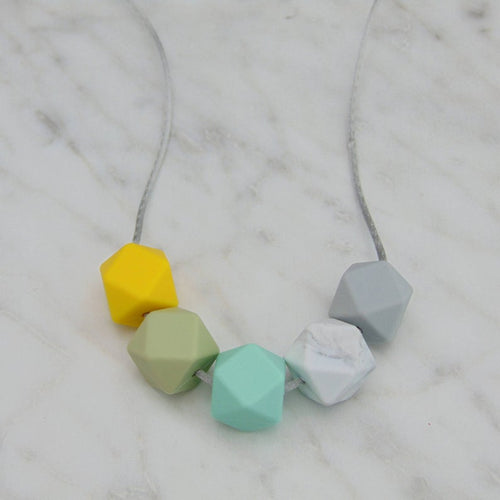 Mint and Yellow Teething Necklace
