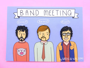 Flight of the Conchords enamel pin badge set