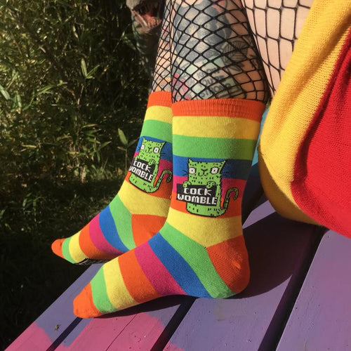 Cock Womble Rainbow Socks