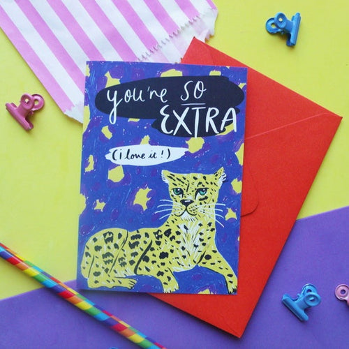 So Extra Leopard A6 Card