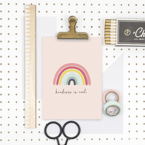 Kindness is cool rainbow print