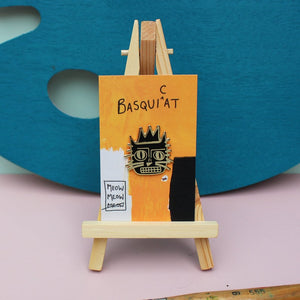 Basquicat Cat Artist Enamel Pin