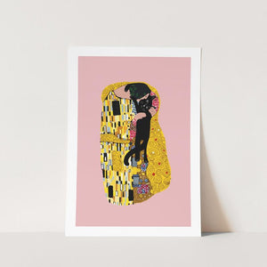 Klimt Cat Kiss A4 Print
