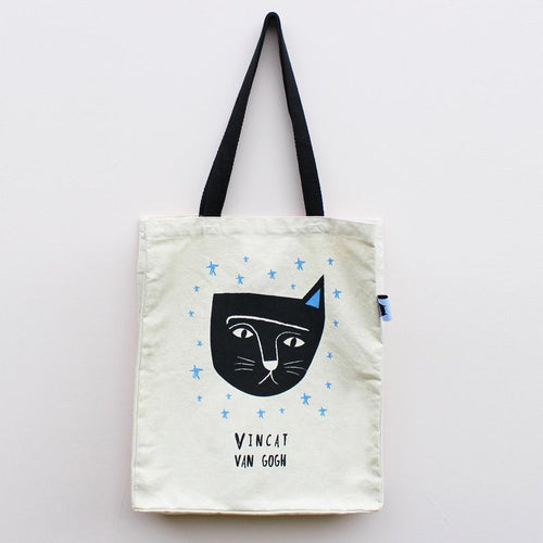Vincat van Gogh Cat Tote Bag