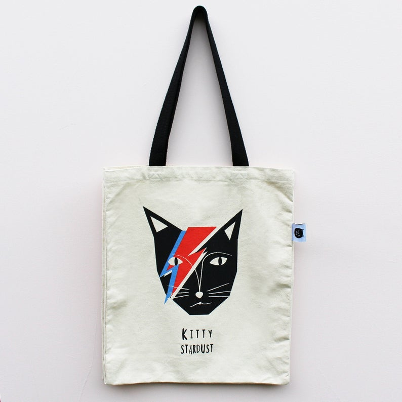 Kitty Stardust Cat Tote Bag