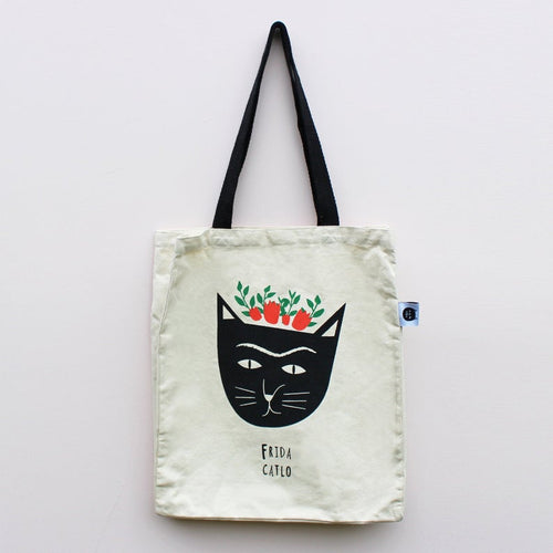 Frida Catlo Cat Tote Bag
