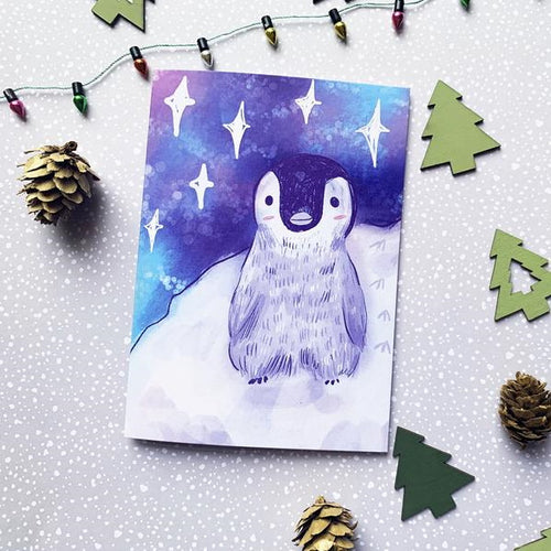 Penguin A6 Recycled Christmas Greeting Card