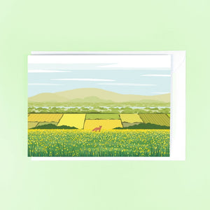 Summer's View Greetings Card