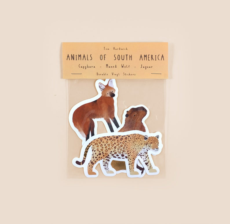 Animals of South America Sticker Pack