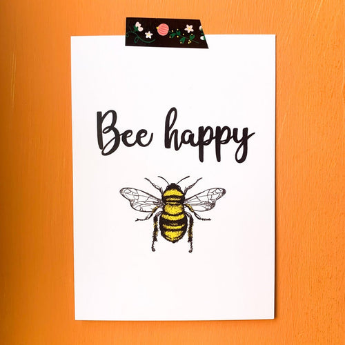 Bee happy A6 Print