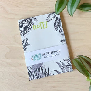 Leafy A6 Notepad