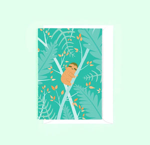 Sloth Greetings Card