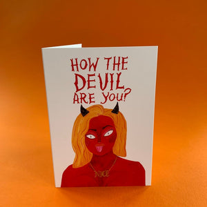 How the Devil are you? Card