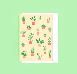 Houseplants Greetings Card