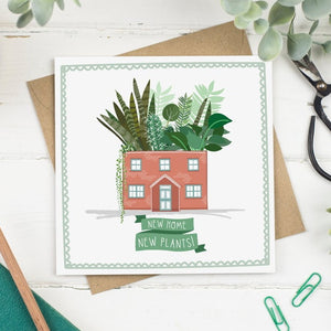 New Home New Plants Greeting Card