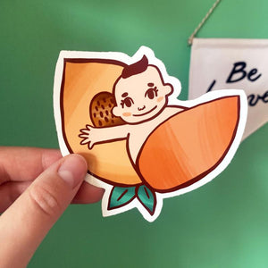 Momotaro Peach Vinyl Sticker