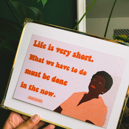 Audre Lorde Quote A5 Print