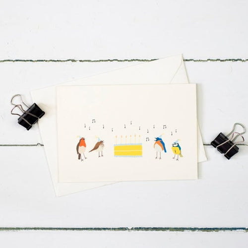 Birthday birds greetings card