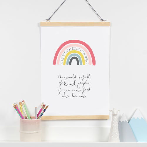 The world is full of kind people rainbow print