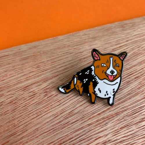 MO worries - Happy Corgi enamel Pin