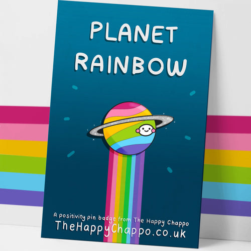 Planet Rainbow Hard Enamel Pin