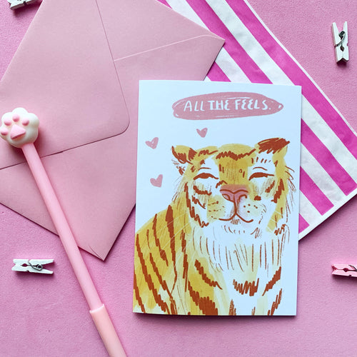 All The Feels Tiger A6 Card