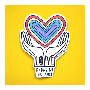 Charity Sticker - Supporting local food banks - Love knows no distance