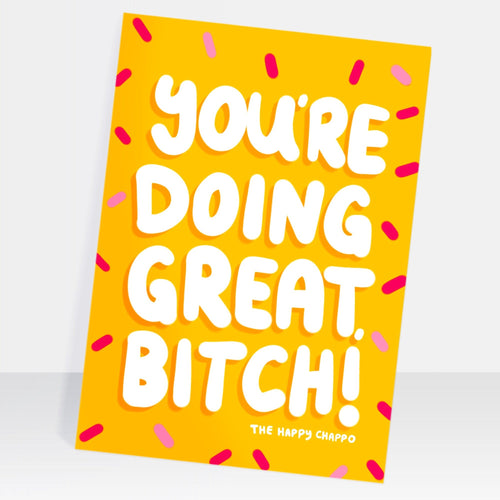 You're Doing Great Postcard
