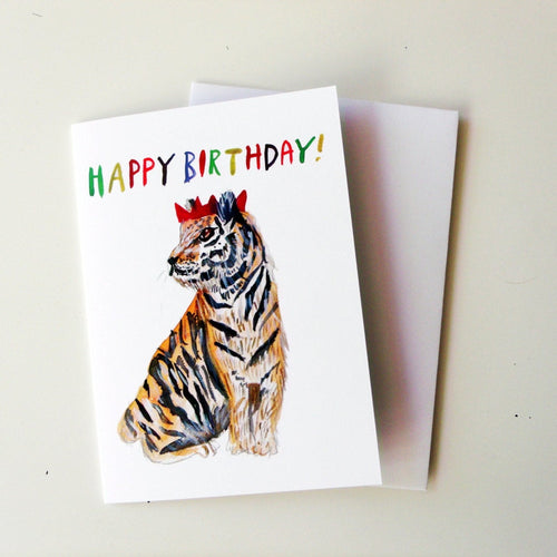 Happy Birthday Tiger A6 Card