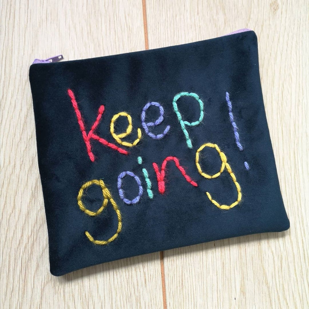 Keep Going Zip Pouch