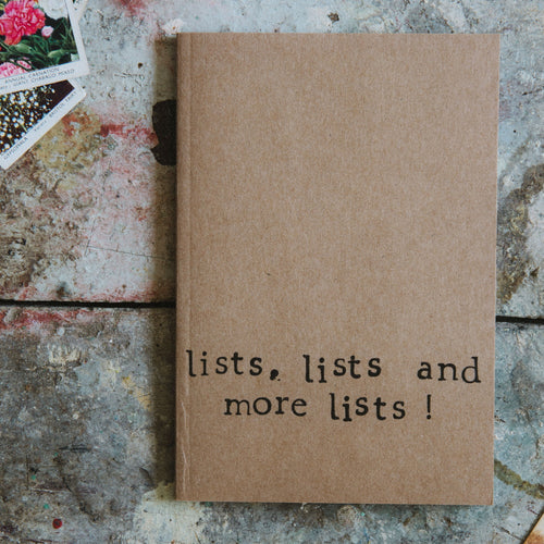 Lists List Lists Small Notebook