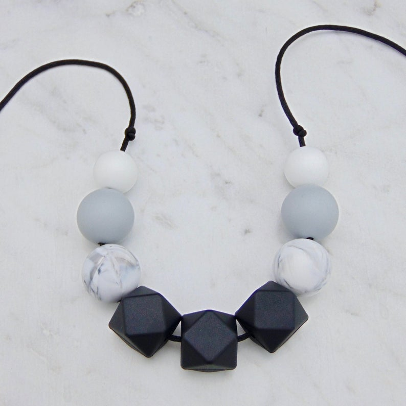 Monochrome Silicone Teething Necklace