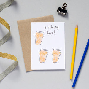 Birthday Beer Card
