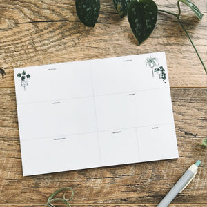 Hanging Plants Weekly Planner
