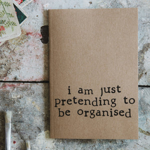 Pretending to be organised Small Notebook