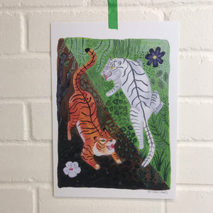 Yin and Yang Tigers Print