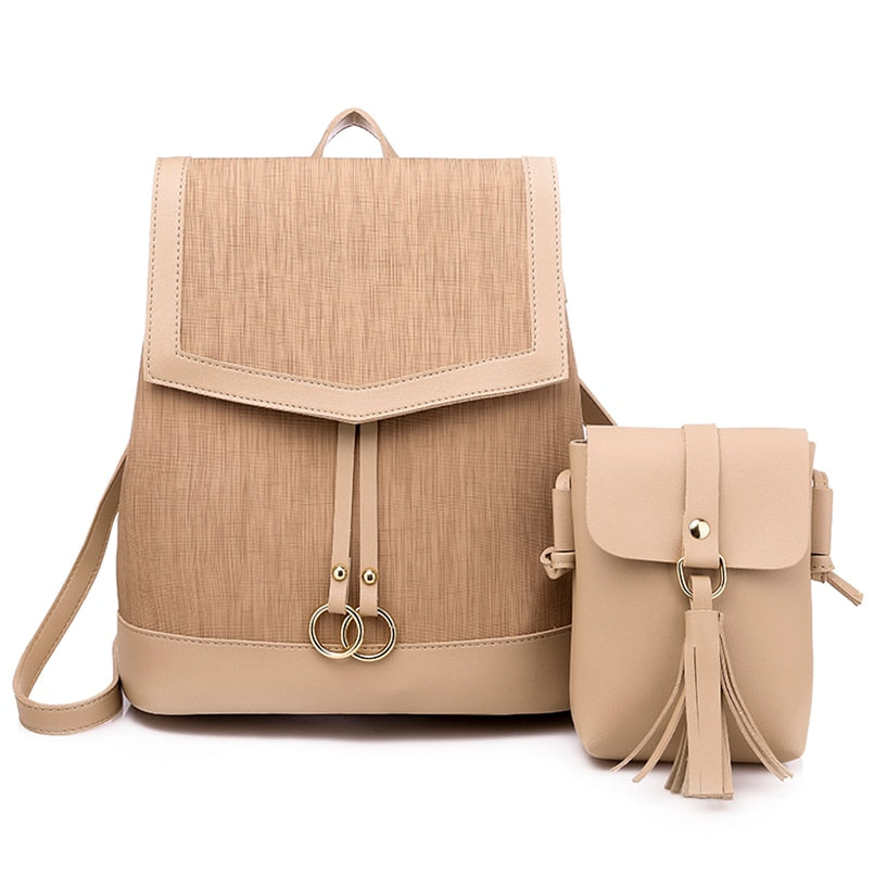 Women Leather Backpack & Shoulder Bag