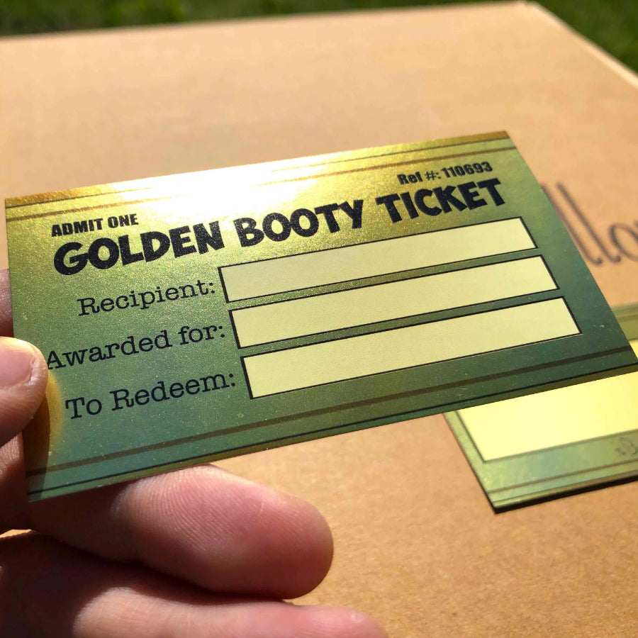 The Golden Booty Ticket - The Buttress Pillow