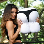 The ODB Size Buttress Happy Booty Pillow in White with The Chive Model and Underwear Undies