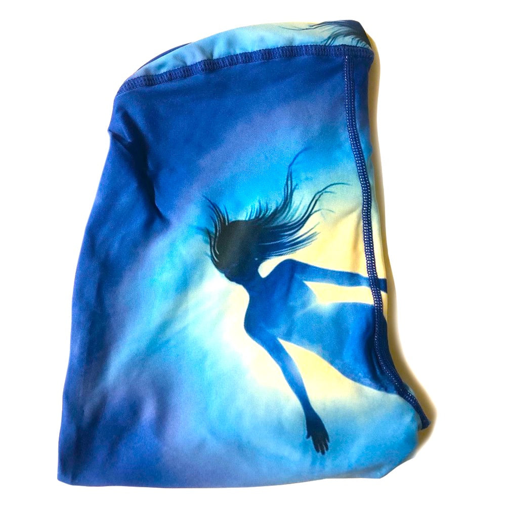 The ODB Size Buttress Pillow Yoga Pant Washable Cover in Mermaid Deep Sea Color