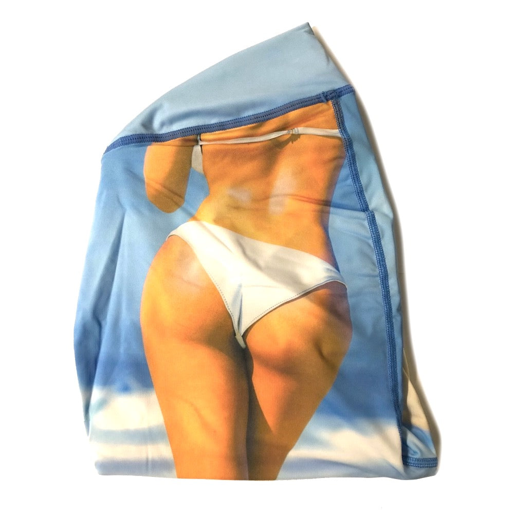 OMG Size Buttress Pillow Yoga Pant Cover in Booty Beach Color for a happy booty