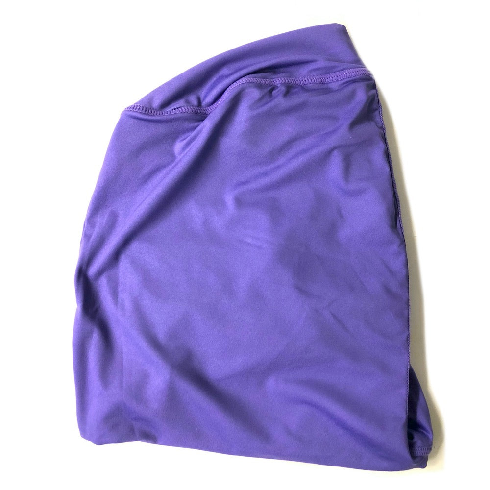 OMG Size Buttress Pillow Yoga Pant Cover in Purple