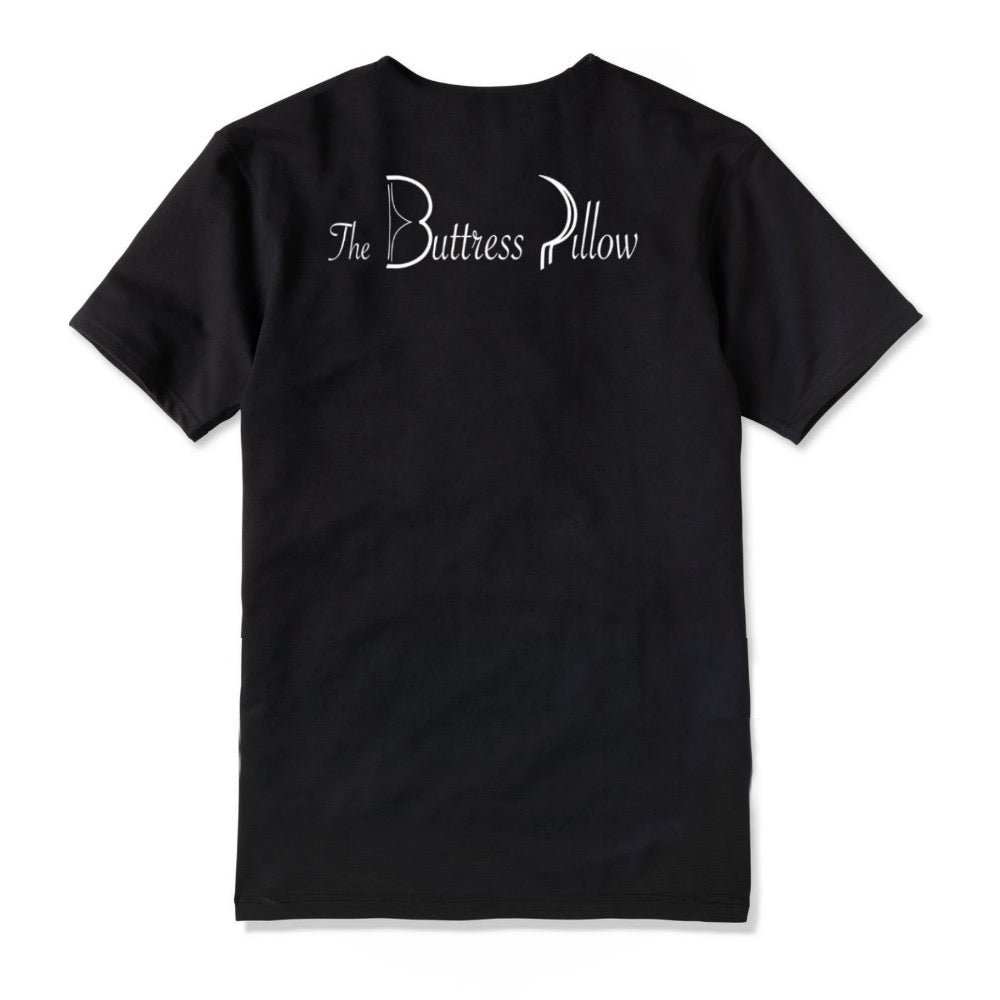 The Buttress Pillow Official T-Shirt Tee Back Logo