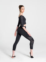 Ladies Deco Cropped Leggings - 11318W