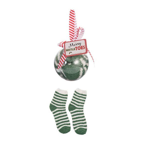Green Socks in Ornament