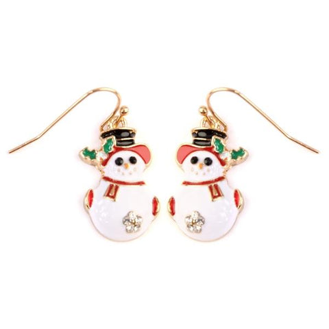 Snowman Scarf Hook Earrings